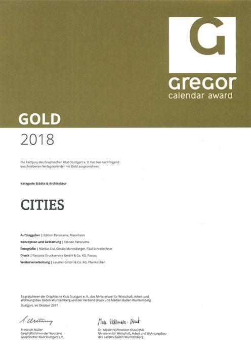 Gregor Calendar Award Gold - 2018